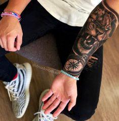 New Tattoo Wrist Lion Tatoo 63 Ideas Lion Forearm Tattoos, Inner Forearm Tattoo, Arm Tattoos For Guys, Trendy Tattoos, Body Art Tattoos, New Tattoos, Cool Tattoos, Tatoo Art, Lion Tattoo Sleeves