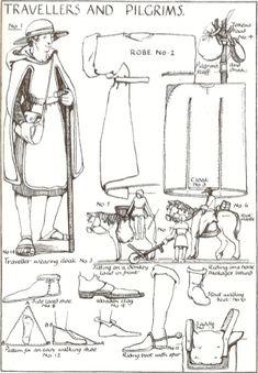 Medieval Pilgrim clothing elements
