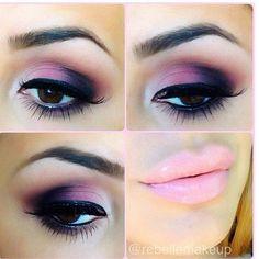 Pretty pinks and purple