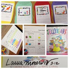 Jelly Bean Fun: Laura Numeroff's book, graphing, writing, syllables, and eating of course :)
