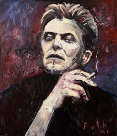 """""""David Bowie"""", Öl auf Leinwand, 70 cm x 60 cm, 2016 / Detlev Foth"""