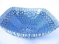 Blue Polymer Clay bowl