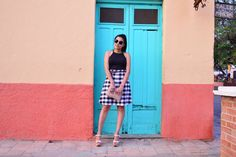 Black and white gingham, hippie sunglasses