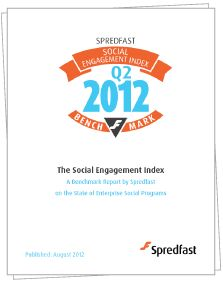 Q2/2012 Spredfast puts out Social Engagement Index (sponsored by Mindwave Research)