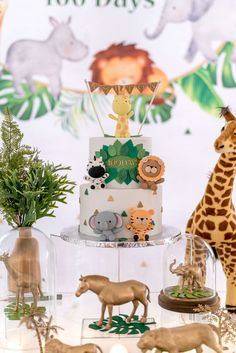 laine Events's Birthday / Modern Safari Theme - Photo Gallery at Catch My Party Boys First Birthday Party Ideas, Wild One Birthday Party, 1st Birthday Girls, Boy Birthday Parties, Birthday Party Decorations, Safari Birthday Cakes, Jungle Theme Birthday, Safari Theme Party, Jungle Theme Cakes