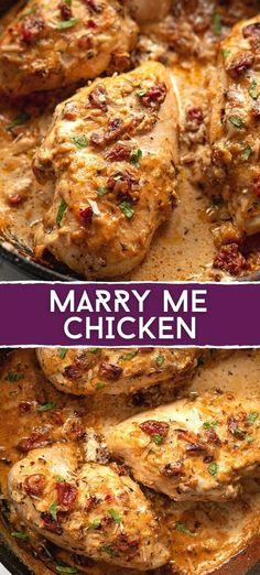 Easy Chicken Dinner Recipes, Baked Chicken Recipes, Meat Recipes, Baked Chicken Breast, Cooking Recipes, Recipes With Chicken Breast Easy, Chicken Crockpot Recipe, Easy Chicken Dishes, Delicious Chicken Recipes