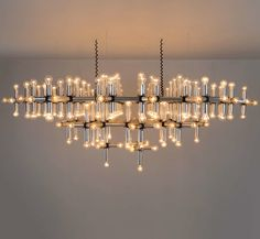 Robert Haussmann; Aluminum and Plastic 'Lichtstruktur' Ceiling Light, 1960s.