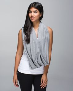 The possibilities are (nearly) endless with this cozy, customizable circle scarf. We made it with snaps so it could be a little bit of everything: a scarf, a wrap, a shrug, a hood – you name it! Designed with super soft and naturally breathable fabric, it's perfect for warming up, cooling down and extra-long walks home.