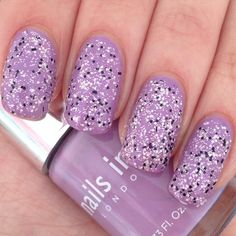 Gone for this cute lilac sprinkles look with my nails today using Wardour Street with Victoria Road over the top both by @nailsinc Sporting slightly shorter nails atm as I've had a few breakages! #notd