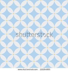 Abstract geometric seamless pattern. Blue classic pattern. Vector illustration - stock vector