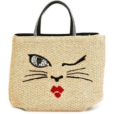Ermanno Scervino woven cat motif tote (2 845 AUD) ❤ liked on Polyvore featuring bags, handbags, tote bags, cat handbag, handbags totes, cat tote bag, braided handbag and beige tote bag
