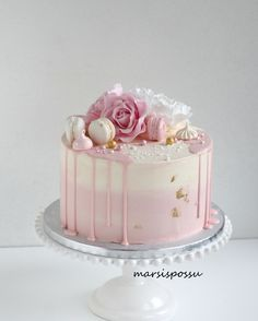 29th Birthday Cakes, Birthday Drip Cake, Elegant Birthday Cakes, Special Birthday Cakes, Beautiful Birthday Cakes, Beautiful Cakes, Pretty Cakes, Cute Cakes, Pastel Cakes