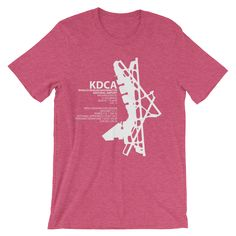 KDCA / DCA - Ronald Reagan Washington National - Unisex short sleeve t-shirt