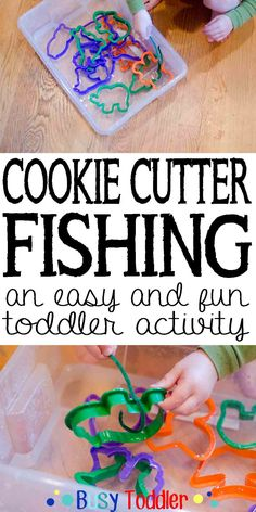 Cookie Cutter Fishing: an easy and fun toddler activity.