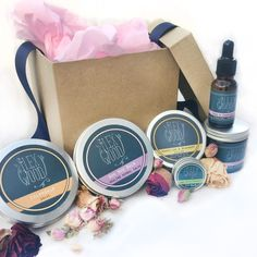 The Ilex Wood - The Ultimate Natural Vegan Beauty Gift Box Shop online for Avon Make up, Cosmetics and LOTS more. Gift Boxes Online, Kaya, Vegan Beauty, Sweet Almond Oil, Beauty Routines, Shea Butter, The Balm, Herbalism, Lemon Balm