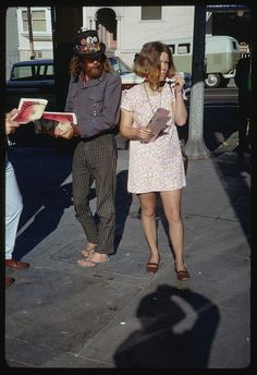 Haight Street Hippies - San Francisco, California, March 23, 1967