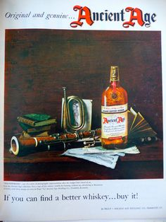 1955 Ancient Age Bourbon Whiskey by MadeonLincolnCrafts on Etsy, $5.00