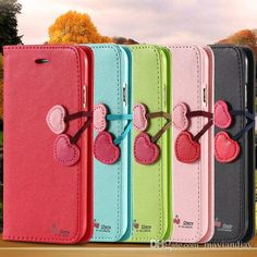 Glitter Cell Phone Cases Cute Cherry Wallet Pu Leather Filp Case For Samsung Galaxy S6/S6 Edge Iphone 6/6plus With Stand Holder Credit Card Slot Cover Cell Phone Hard Cases From Mayiandjay, $4.31