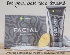 Want a deeply hydrating experience? Start with a clean canvas! Experience your best skin softening and smoothing Facial results when you wash the day away with soap-free Cleanser before applying. ‪#‎BestFaceForward‬ ‪#‎ItWorks‬ #Facial  https://shaunasteele.myitworks.com for ordering info or email me at shaunawrapgirlsteele@outlook.com