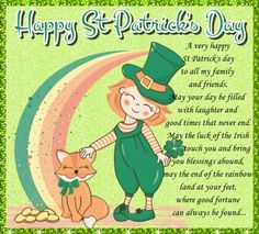St Patricks Day Cards, Happy St Patricks Day, Wishes For You, Day Wishes, Leprechaun Games, You Are My Treasure, Thanking Someone, Wishes Messages, Irish Blessing