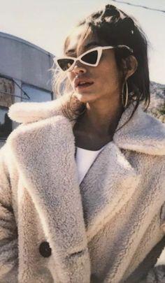 cat eye sunglasses + teddy jackets #ootd