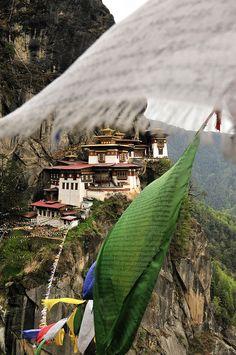 Tiger's Nest, Taktshang monastery in Bhutan