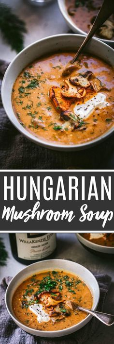 Lower Excess Fat Rooster Recipes That Basically Prime This Hungarian Mushroom Soup With Fresh Dill Is Rich, With Hints Of Smokiness And A Great Umami Flavor. Its The Perfect Bowl Of Soup To Warm Up With This Season Chili Recipes, Vegetarian Recipes, Cooking Recipes, Healthy Recipes, Hearty Vegetarian Soup, Healthy Soups, Bread Recipes, Cooking Tips, Hungarian Mushroom Soup