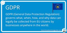 GDPR stands for General Data Protection Regulation. It is the updated legal framework in the EU for the collection and management of data, which came into effect in May Marketing Definition, General Data Protection Regulation, Online Advertising, Definitions, Digital Marketing, Competition, Management, Business, Collection