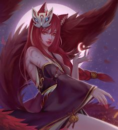 Ahri by 魔法少女圈 Tips for League of legends so hot