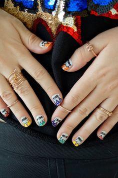 Pop Art Nails, Comic Book Nails, Trendy Nails, Asos Nail Decals