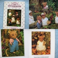 VINTAGE 80s sewing pattern THE BRAMBLY HEDGE PATTERN BOOK - MICE via Etsy