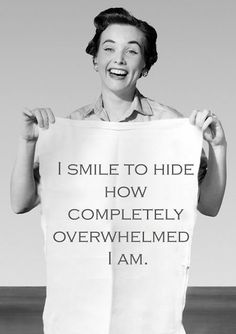 Sometimes all can do is just smile through it!