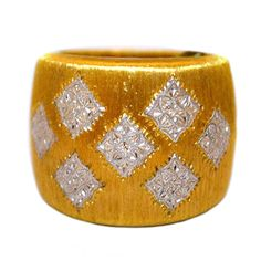 Buccellati gold  ring   From a unique collection of vintage band rings at http://www.1stdibs.com/jewelry/rings/band-rings/