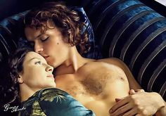 Fan art by ©Geno Acedo of Jamie and Claire in Paris