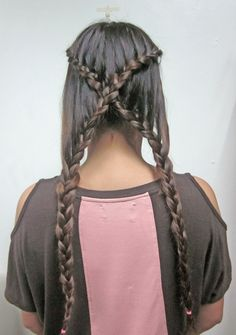 X Braid for long hair ---Kimberly Higdon! Because there is no way I could do this myself!