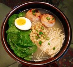 Miso Ramen With Scallops - I would use prawns instead tho.