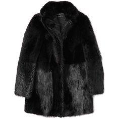Salvatore Ferragamo Beaver Fur Coat ($13,500) ❤ liked on Polyvore featuring outerwear, coats, jackets, coats & jackets, salvatore ferragamo, fur coat and long sleeve coat