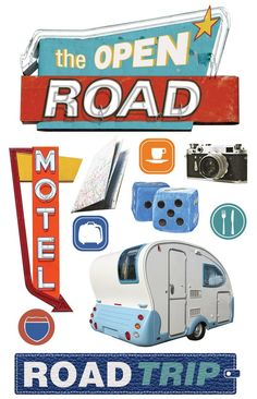 Paper House 3D stickers | road trip 3d sticker these 3d stickers will have you singing on the ...