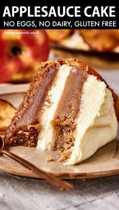 Gluten Free Sweets, Vegan Sweets, Gluten Free Baking, Vegan Baking, Dairy Free Recipes, Gluten Free Apple Cake, Vegan Apple Cake, Vegan Pumpkin, Gluten Free Cakes