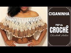 Crochet Crop Top, Crochet Blouse, Crochet Bikini, Crochet Girls, Diy Crochet, Crochet Baby, Crochet Designs, Crochet Patterns, Crochet Collar