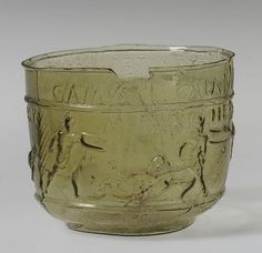 Gladiator cup, ca. 50–80 A.D.; Neronian–Early Flavianic Roman; Found at Montagnole, southern France