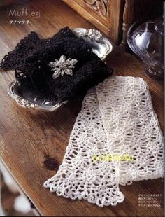 Crochet Knitting Handicraft: Scarf