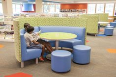LFI Install of booth seating with privacy and sound buffer - ELA Area Public Library