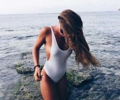 Shop stylish women's swimwear at FABKINI & find tankinis, bikinis, one-piece swimsuits, monokinis & more. Bikini Beach, Bikini Girls, Bikini Babes, Sexy Bikini, Summer Vibes, Mädchen In Bikinis, White Bikinis, Stuck, White Swimsuit
