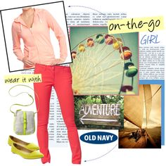 """""""Casually Chic with the Old Navy Tee Hoodie"""" by oldnavy on Polyvore"""