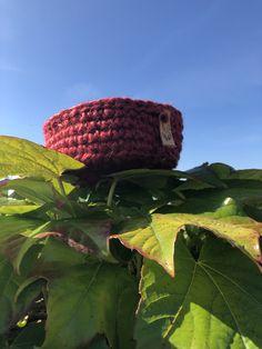 Red Basket, Jute, Crocheting, Burlap