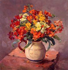 Mill House Fine Art – Publishers of Anne Cotterill Flower Art Flower Artists, Still Life Flowers, Canvas Art, Canvas Prints, Still Life Art, Arte Floral, Fine Art, Beautiful Paintings, Belle Photo