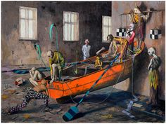 Jonas Burgert - Lotsucht / Scandagliodipendenza, 2007, olio su tela, 300 x 400 cm, Hamburger Kunsthalle. photo © Lepkowski Studios