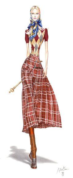 Модные иллюстрации Arturo Elena