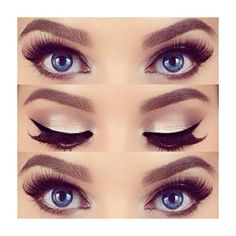 How to Apply the False Eyelash ❤ liked on Polyvore featuring beauty products, makeup, eye makeup, false eyelashes, eyes and maquiagem
